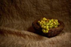 Fresh fruits on sack Stock Photos