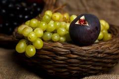Fresh fruits on sack Royalty Free Stock Photo