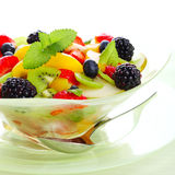 Fresh fruits salad Royalty Free Stock Photos