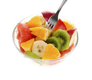 Fresh fruits salad Stock Photos