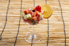 Fresh fruits salad cocktail Royalty Free Stock Photo