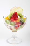 Fresh fruits salad in glass Royalty Free Stock Images