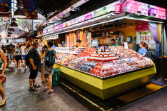 Fresh Fruits For Sale In Barcelona Market Stock Photos