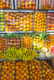 Fresh fruits on sale in fruits market Stock Image