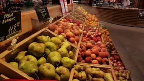Fresh fruits for sale stock video footage