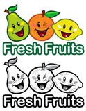 Fresh fruits seal Stock Photos