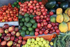 Fresh fruits selling at market Stock Images