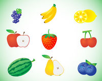Fresh fruits set Royalty Free Stock Photo
