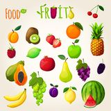 Fresh fruits set Stock Image