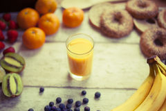 Fresh fruits smoothy Stock Photography