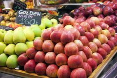 Fresh fruits  in a spanish market Royalty Free Stock Photos