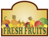 Fresh Fruits Stand Signage Illustration royalty free illustration