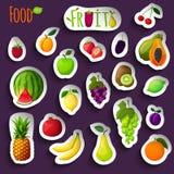 Fresh fruits stickers Stock Photo