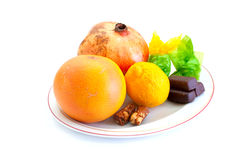 Fresh fruits and sweets Royalty Free Stock Photo