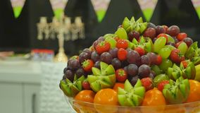 Fresh fruits on table. Fresh fruits on table stock video footage