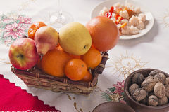 Fresh fruits on Table Royalty Free Stock Image