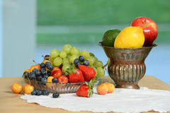 Fresh Fruits on Table Royalty Free Stock Photography