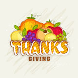 Fresh fruits for Thanksgiving Day celebration. Royalty Free Stock Photos