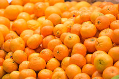 Fresh fruits to sell on the market. Selective focus. Background Stock Image