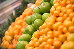 Fresh fruits to sell on the market. Selective focus. Stock Image