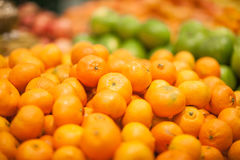 Fresh fruits to sell on the market. Selective focus. Royalty Free Stock Images
