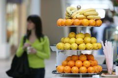 Fresh fruits in a trade center Royalty Free Stock Photos