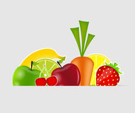 Fresh fruits vector illustration Royalty Free Stock Image
