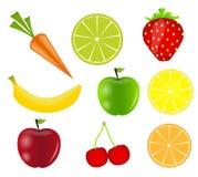 Fresh fruits vector illustration Stock Image
