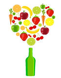 Fresh fruits vector illustration Stock Photos