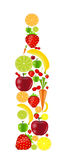 Fresh fruits vector illustration Royalty Free Stock Photography