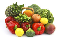 Fresh fruits and vegetable Stock Images