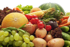 Fresh fruits and vegetables Stock Photo