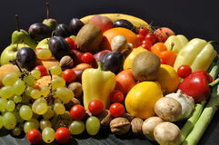 Fresh fruits and vegetables. Image of some fruits and vegetables stock image