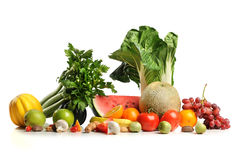 Fresh Fruits and Vegetables Royalty Free Stock Image