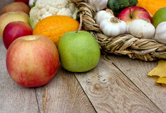 Fresh fruits and vegetables Royalty Free Stock Photo