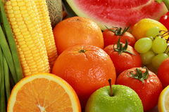 Fresh Fruits and vegetables Stock Images