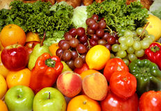 Fresh fruits and vegetables Stock Photography