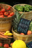 Fresh Fruits and Vegetables. At Farm Stand Stock Photos