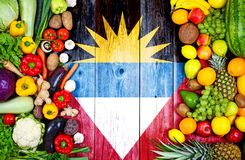 Fresh fruits and vegetables from Antigua and Barbuda stock photo