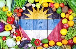 Fresh fruits and vegetables from Antigua and Barbuda stock photos