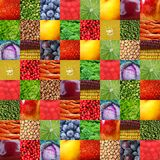 Fresh fruits and vegetables. Background Stock Photography