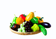Fresh fruits - vegetables Stock Images