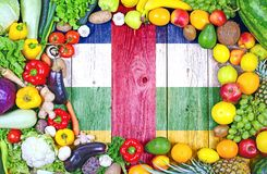 Fresh fruits and vegetables from Central African Republic royalty free stock photos