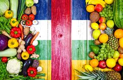Fresh fruits and vegetables from Central African Republic royalty free stock image