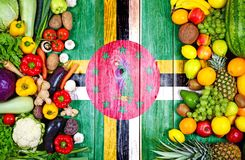 Fresh fruits and vegetables from Dominica stock image