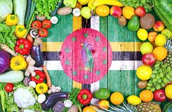 Fresh fruits and vegetables from Dominica stock images