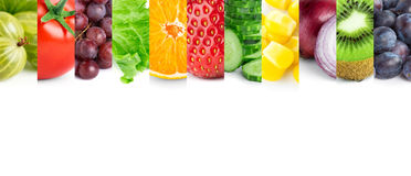 Fresh fruits and vegetables Royalty Free Stock Images