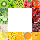 Fresh fruits and vegetables. Healthy food backgrounds stock images