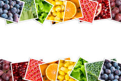Fresh fruits and vegetables. Healthy food concept Royalty Free Stock Photos