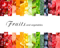 Fresh fruits and vegetables. Healthy food concept Royalty Free Stock Images
